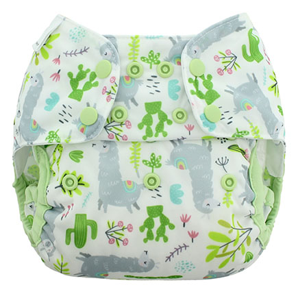 Blueberry diapers llamas capri