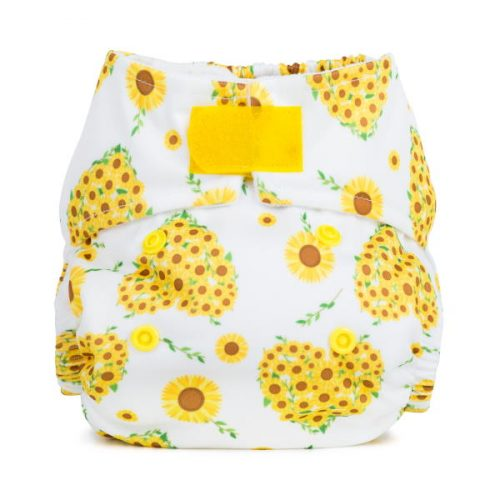 Baba+Boo Sunflowers Newborn Reusable Nappy
