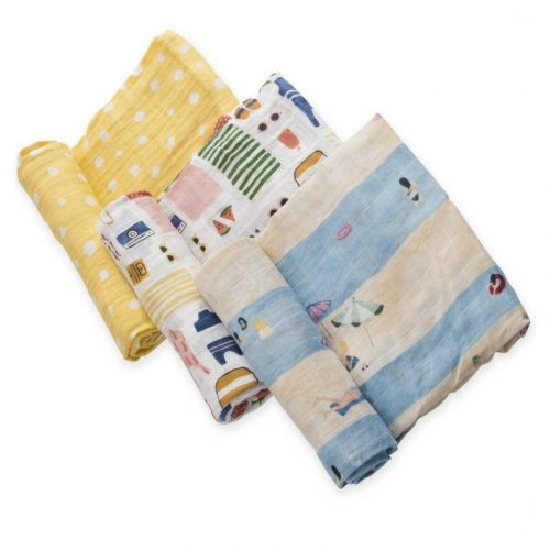 Beach Musselina Swaddle Little Unicorn 3 pack