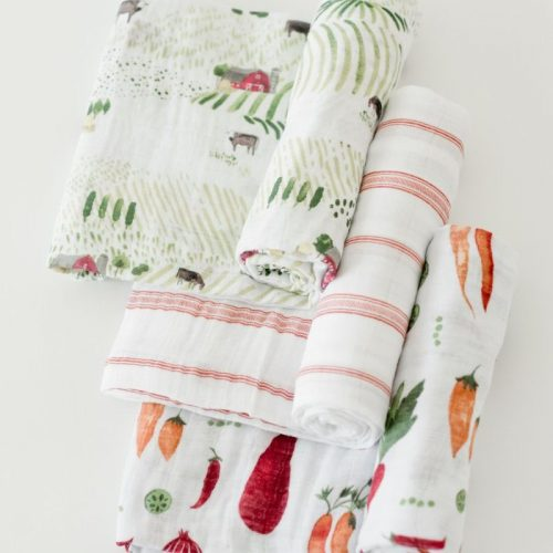 Farmers Market Musselina Swaddle Little Unicorn 3 pack