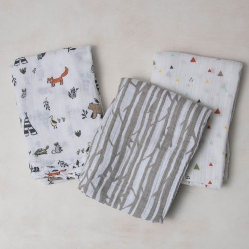 Forest Friends Musselina Swaddle Little Unicorn 3 pack