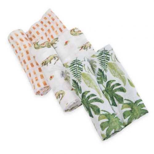 Gators Set Musselina Swaddle Little Unicorn 3 pack
