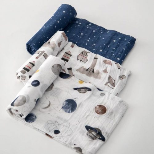 Ground Control Musselina Swaddle Little Unicorn 3 pack