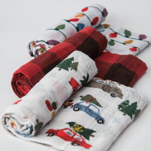 Holiday Haul Musselina Swaddle Little Unicorn 3 pack