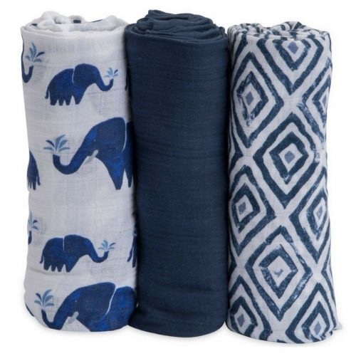 Indie Elephant Musselina Swaddle Little Unicorn 3 pack