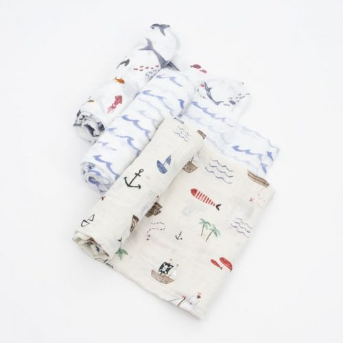 Shark Musselina Swaddle Little Unicorn 3 pack