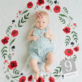 Little Unicorn Musselina Fotográfica Summer Poppy_1